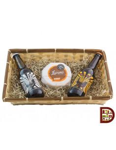 Cesta de cerveza artesanal Caleya y queso